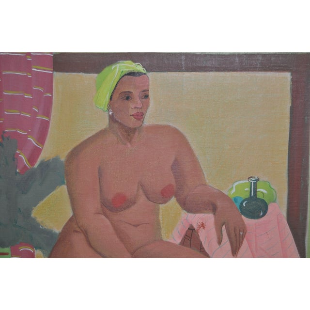 Vintage Figurative Nude Oil Painting C.1940's - Image 4 of 6