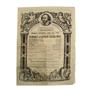 1873 McVicker's Theatre Playbill
