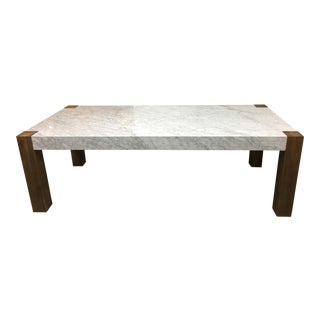 Timothy Oulton Marble & Wood Junction Dining Table