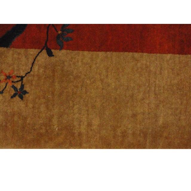 Antique Art Deco Chinese Carpet - 9′3″ × 11′4″ - Image 3 of 4