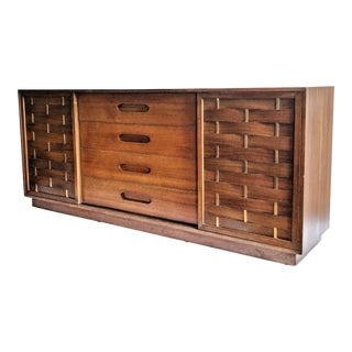 Harvey Probber Woven Front Credenza Sideboard