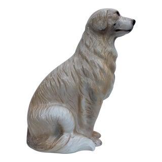 Italian Ceramic Dog Statue