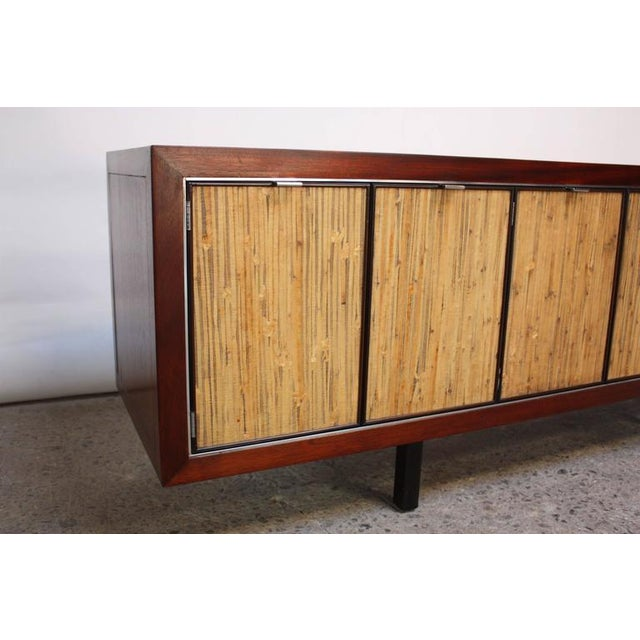 1970s Walnut, Bamboo and Cherry Credenza after Harvey Probber - Image 3 of 10