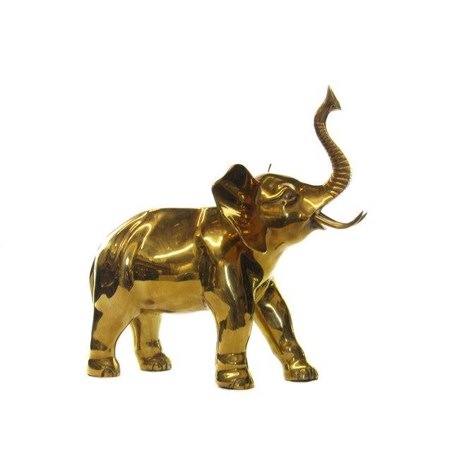 Large Brass Elephant - Image 1 of 5