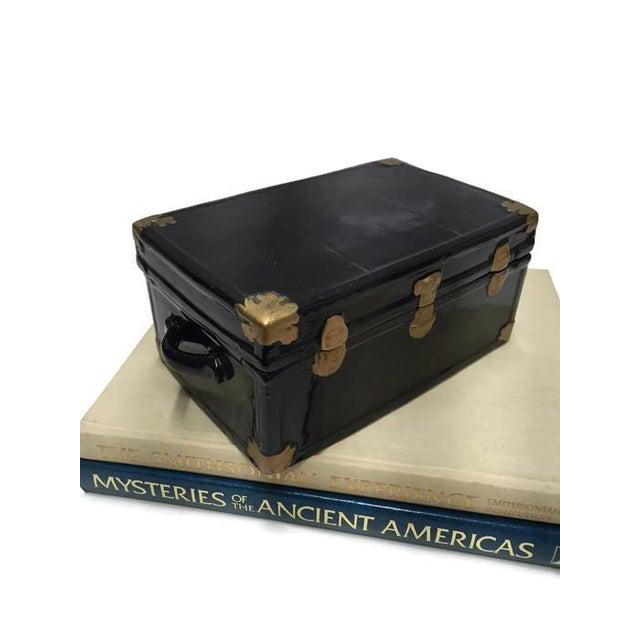 Vintage 1970s Black Ceramic Trunk Display Box - Image 2 of 7