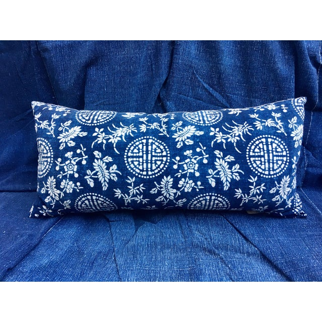 Antique Indigo Batik Pillow - Image 5 of 6