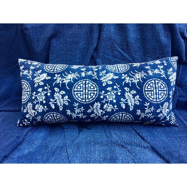 Image of Antique Indigo Batik Pillow