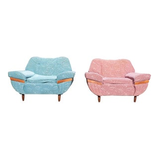 1950s Stylette Furniture Co. Mid-Century Modern Gondola Chair - A Pair