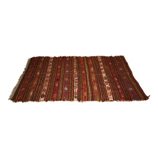 Red Handmade Kilim Rug - 3′10″ × 6′6″
