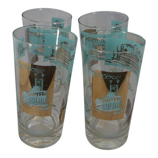 Mid-Century Steamboat Bar Tumblers - Set of 4