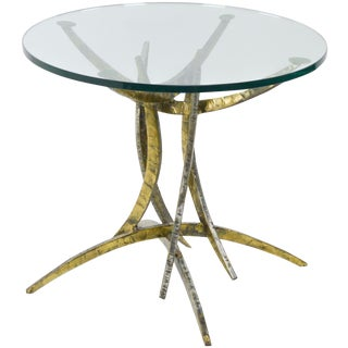 Brutalist Round Center or Side Table circa 1970