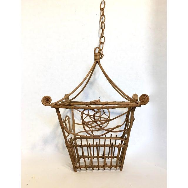 Image of Vintage Wicker Pagoda Bird Cage