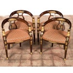 Image of 19th C. Bronze Mounted Lyre Back Armchairs - 4