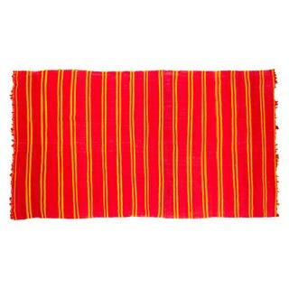 """Vintage Orange Kilim Carpet - 6'5"""" x 11'4"""""""