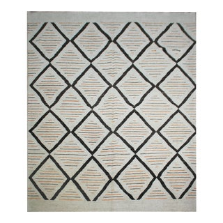 "Hand Knotted Navajo Rug by Aara Rugs Inc. 10'6"" X 13'3"""