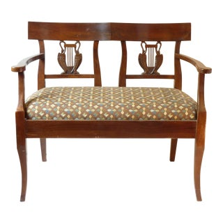 French Country Walnut Settee