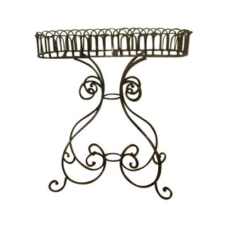 1900s Wrought Iron Plant Stand