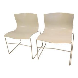 Handkerchief Stacking Vignelli Chairs - A Pair