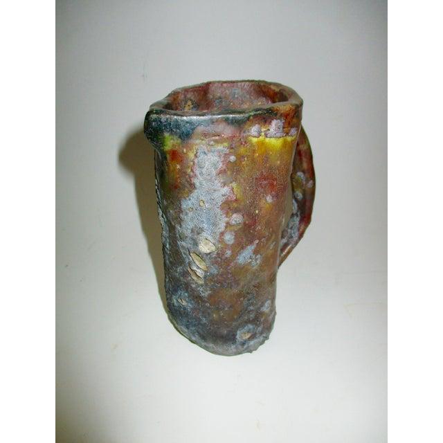 Brutalist Thick Glazed Pitcher Vase - Image 7 of 10