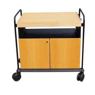 Kitchen Birch Rolling Cart & Butcher Block