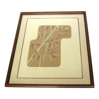 """""""Autumn Bamboo"""" Limited Edition Signed Serigraph by Ken Nelson"""