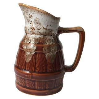 Mid-Century French Faux-Bois Wine Carafe