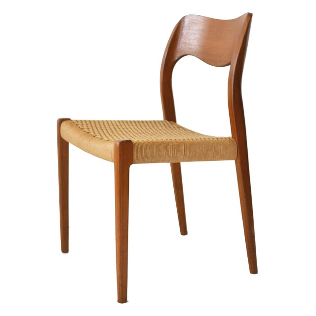 Image of Vintage Moller #71 & #55 Dining Chairs - Set Of 6
