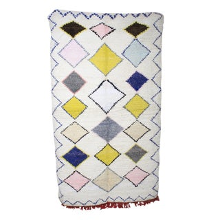 Moroccan Boucherette Pastel Rug - 4' X 7'