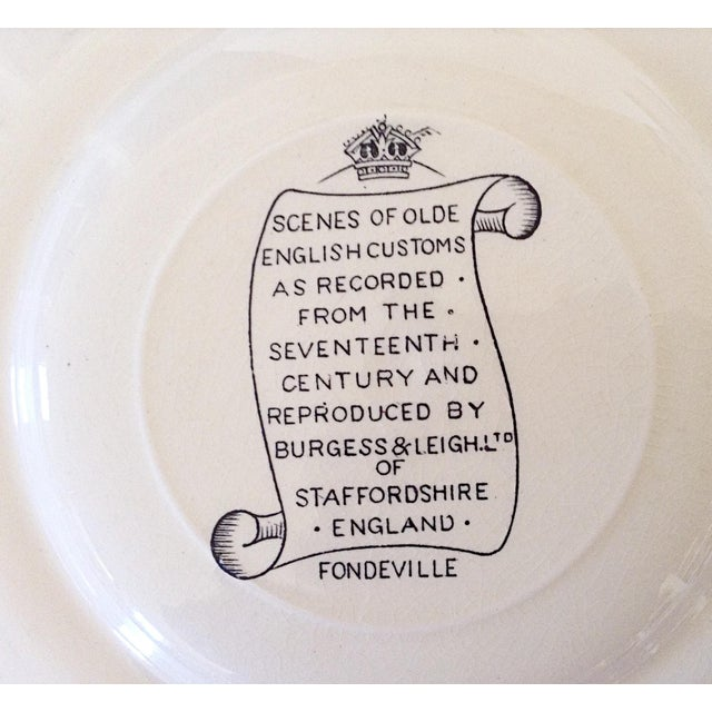 Image of Staffordshire English Plates of Customs - Set of 9