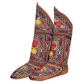 Uzbek Karakalpak Festival Leather Boots