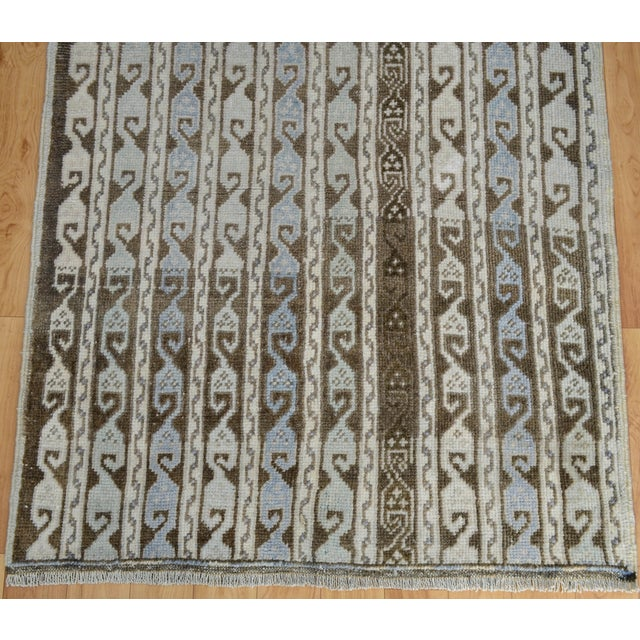 Hand-Knotted Turkish Antique Effect Rug - 3′ X 7′ - Image 7 of 9