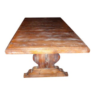 Pedestal Wrought Iron Pesky Cypress Dining Table