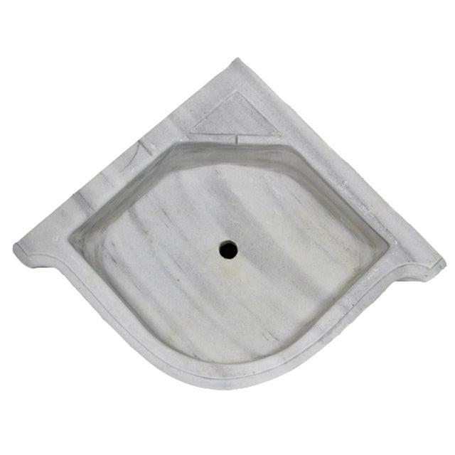 Antique Marble Corner Sink | Reclaimed Marble Basin - Image 2 of 2