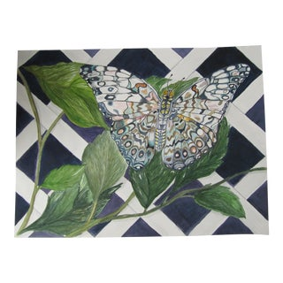 Watercolor Painting of a Butterfly