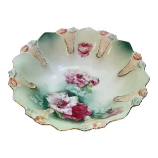 RS Prussia Hand Painted Decorated Floral Bowl