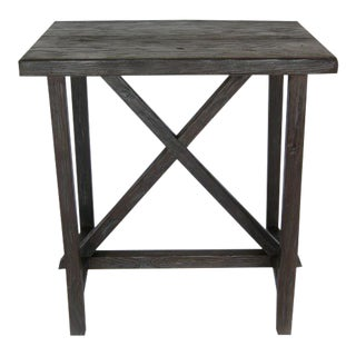 Reclaimed Wood X Side Table