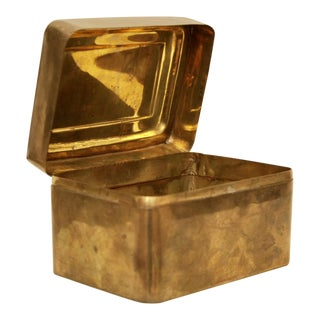 Hinged Brass Keepsake Storage Box
