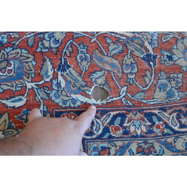 "Vintage Persian Sarouk Rug - 6'11"" X 10'11"" - Image 9 of 11"