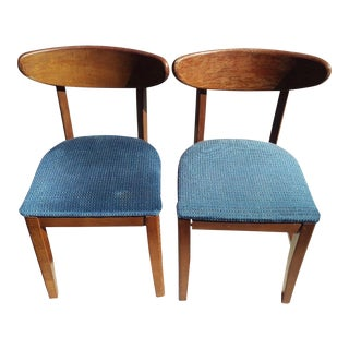 Bianco Mid-Century Bentwood Chairs - A Pair