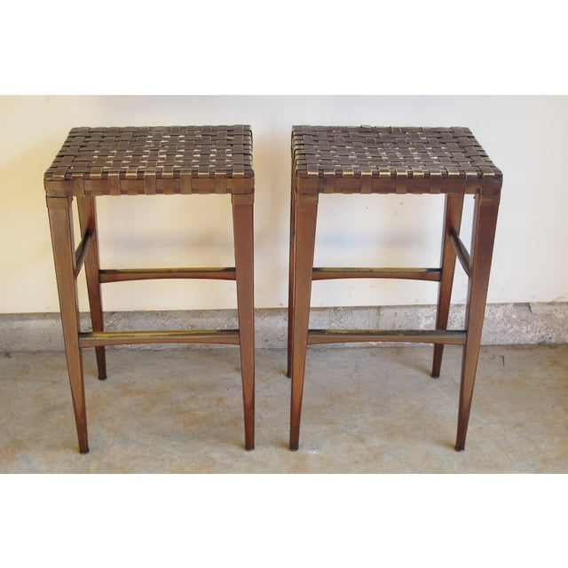 Artistica Milo Backless Barstools -- A Pair - Image 2 of 10