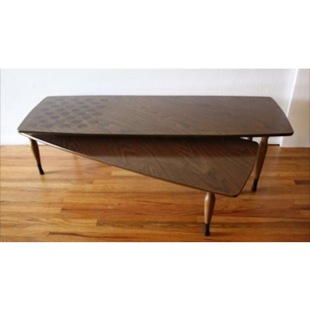Mid-Century Modern Swing-Out Coffee Table