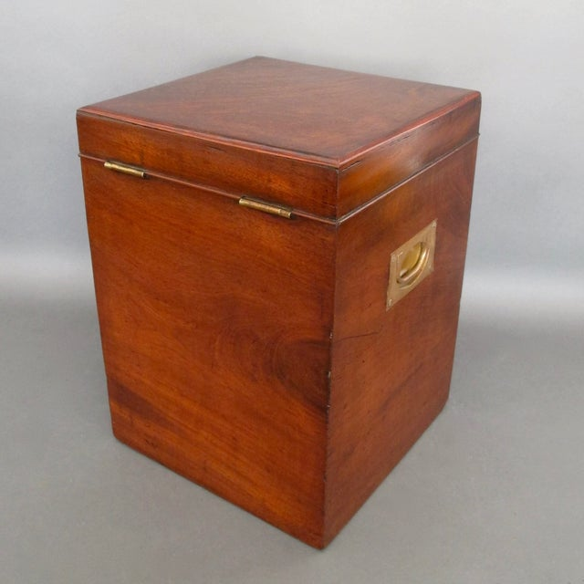 Antique English Mahogany Wine Box - Image 3 of 11