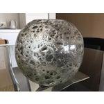 Image of Decorative Round Art Glass Vase
