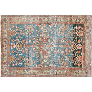 "Vintage Distressed Persian Malayer Rug, 4'2"" x 6'5"""