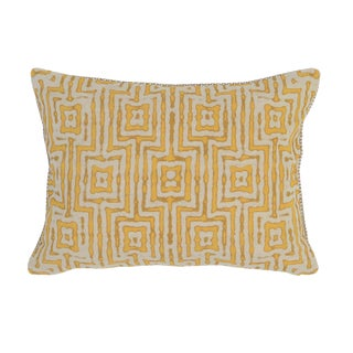 Marigold Patterned Linen Pillow