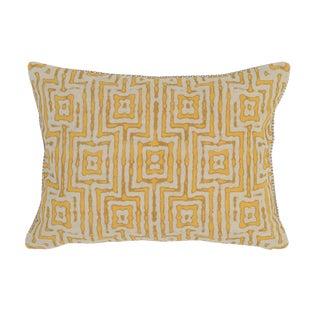 Marigold Patterned Linen Pillow