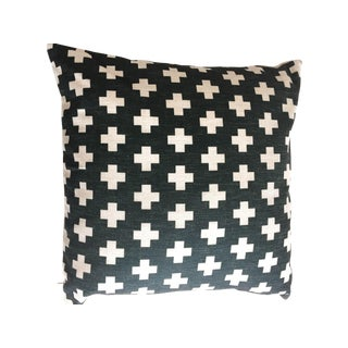 Swiss Cross Black Geometric Pillow