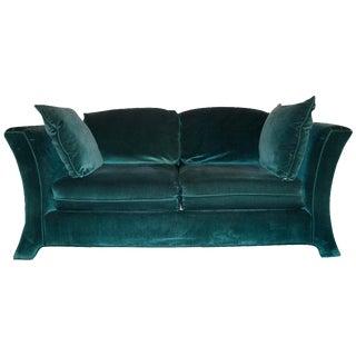 Broyhill Emerald Green Velvet Loveseat