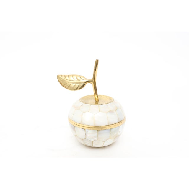 Vintage Mother of Pearl and Brass Trinket Box - Image 2 of 7
