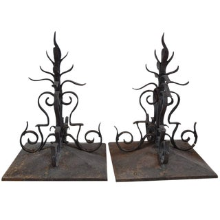 Pair of Wrought Iron Decorative Finials